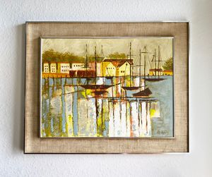 """Mid century modern Lee Reynolds oil on canvas 51"""" x 40"""" for Sale in Cape Coral, FL"""