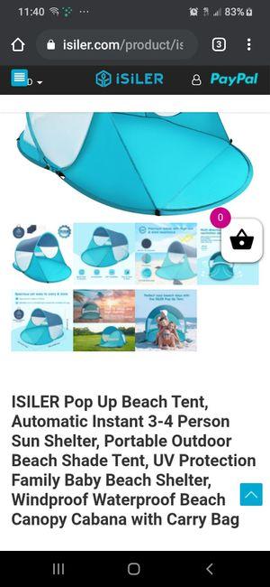 Isiler pop up beach tent front display s.d. (1 in stock) for Sale in Phoenix, AZ