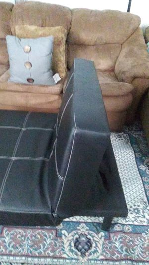 Leather futon chair for Sale in Salem, WI