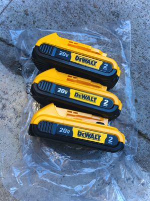 New Three (3) DeWalt 2Ah 20v Batteries for Sale in Modesto, CA