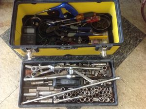 Mechanics Hand tools sockets wrenches in Stanley box - price is firm for Sale in Columbus, OH