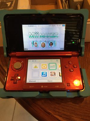 Nintendo 3DS in Nerf armor case with 3 games & carrying bag for Sale in Columbia Station, OH