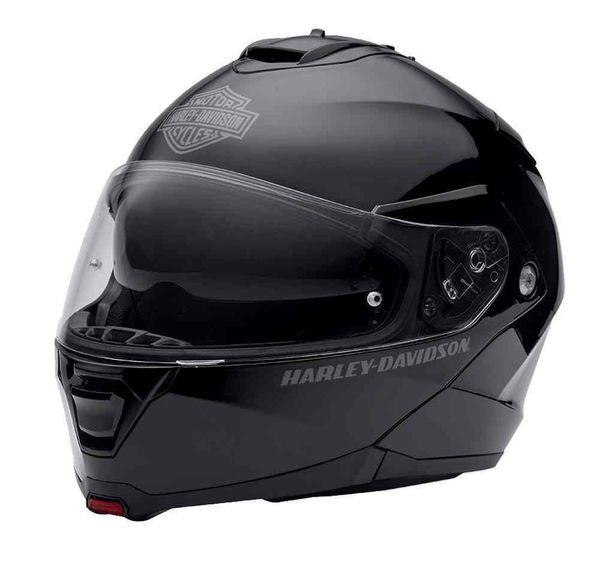 Brand New Gloss Black Harley Davidson Modular Motorcycle Helmet