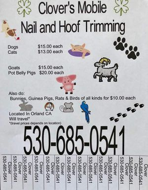 mobile nail and hoof trims for Sale in Orland, CA