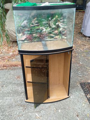 Fish Tank and Cabinet for Sale in Seattle, WA