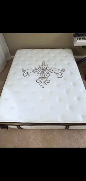 Very Nice Queen Stearns & Foster Pillowtop Mattress, Boxspring and Bed Frame for Sale in Renton, WA