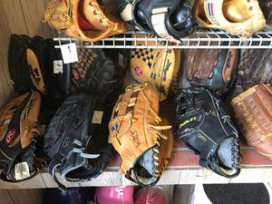 Softball gloves all sizes for Sale in Falls Church, VA
