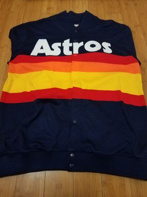 Mitchell and Ness, MLB Astros sweater Jacket size 4XL for Men. for Sale in Lynwood, CA