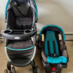 Graco FastAction Fold Click Connect Travel System, Car Seat Stroller Combo for Sale in Malden, MA