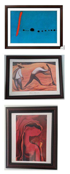 Collection of 2 prints with matching frames