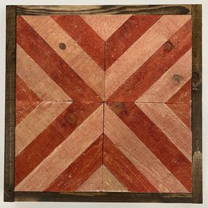 "Herringbone chevron wood arrows wall art 13.25""x13.25"" handmade for Sale in Costa Mesa, CA"