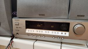 Onkyo HT-R-340 Receiver Home Theater w 6 speakers. works great for Sale in Modesto, CA