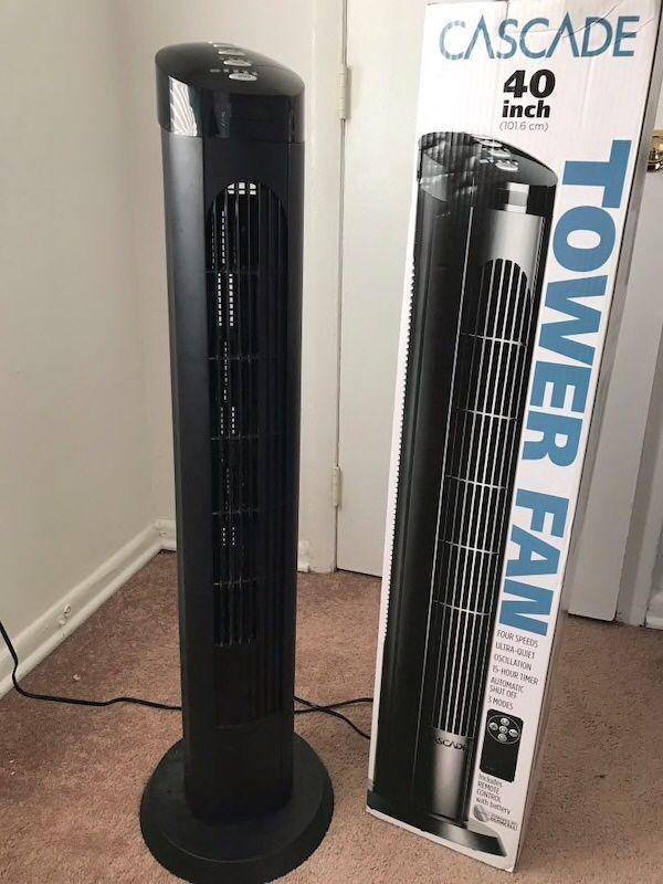 $20 each 40 inches spinning cascade fan open box tower fan oscillation timer quiet ventilador