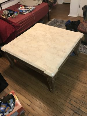 Sturdy marble/wood coffee table for Sale in Denver, CO