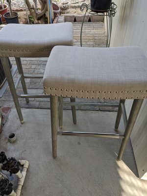 Two barstools size 28 inch high like new in highland for Sale in Fontana, CA