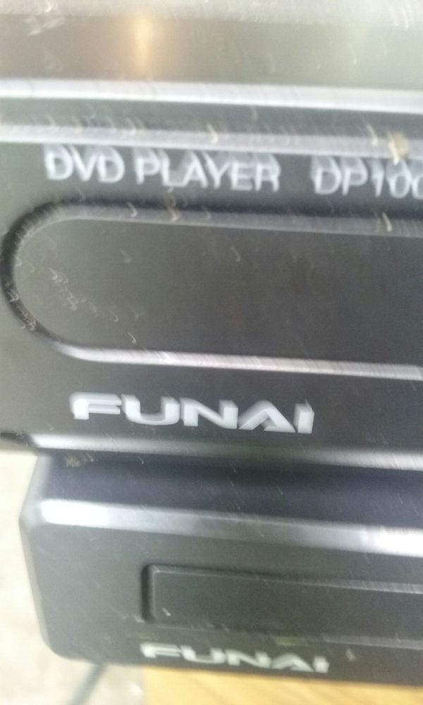 Portable small Blu-ray DVD player and one regular DVD fuji-q player