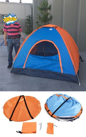 New in box 2 to 3 person 78x78x53 inches outdoor beach camping tent with privacy screen ez pop up design waterproof includes carrying bag for Sale in Whittier, CA