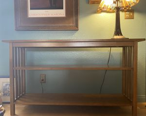 Like new Mission Style Console Table for Sale in Henderson, NV