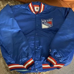 Vintage New York Rangers Satin Starter Jacket Size XL NHL for Sale in Stockton, CA
