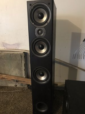 Polk audio 60 series 2 black tower speakers pair, home theater for Sale in West Jordan, UT