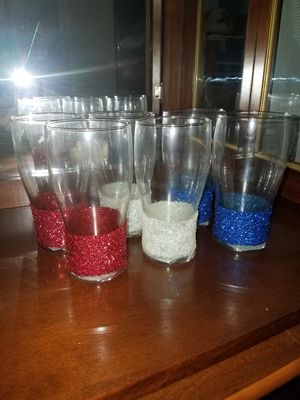 Set of 6 Glasses, patriotic for Sale in Fort Worth, TX