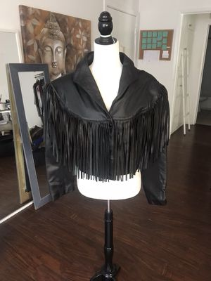 Authentic Fringe Leather Jacket - Size Medium for Sale in Los Angeles, CA
