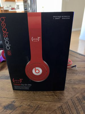 Dr Dre Beats Solo HD headphones Red Special Edition for Sale in Rancho Cucamonga, CA
