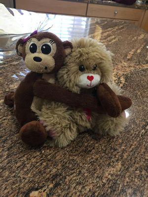 Best friend Stuffed monkey and teddy bear for Sale in Las Vegas, NV