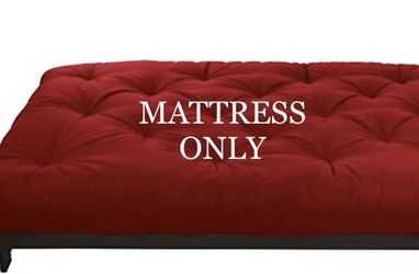 """*BRAND NEW* 6"""" RED FULL SIZE FUTON MATTRESS SEALED IN ORIGINAL PACKAGING. for Sale in Columbus,  OH"""