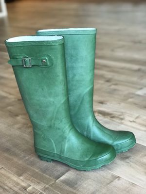 Green Rubber Boots - W5 for Sale in Leavenworth, WA