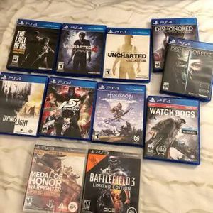 selling a bunch of PS4 Games! (and 2 PS3 games) for Sale in Rochester, MI