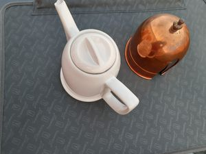 Vintage ceramic coffee/tea pot with removable copper warmer for Sale in Inglewood, CA