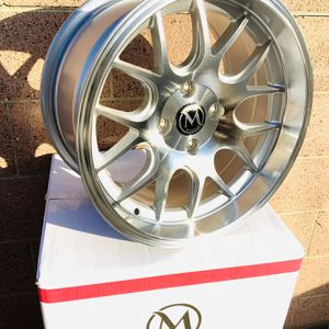 15x8 Rims 4x100 +20 All New Wheels Any Set $350 Sale for Sale in Commerce, CA