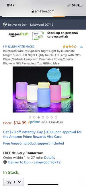 Bluetooth Portable LED Speaker for Sale in Lakewood, CA
