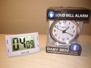 Used, Baby Ben Quartz Alarm Clock & Taylor Digital Timer for Sale for sale  Tucson, AZ