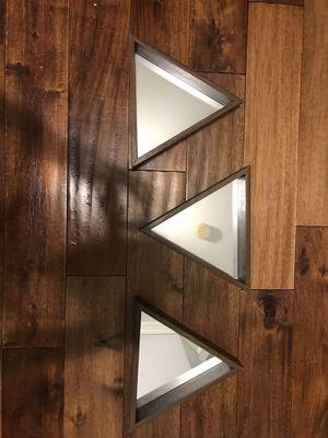 Triangle mirror wall hanging decor for Sale in Valencia, CA