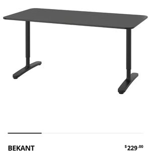 IKEA Bekant Black 63*31 1/2 Used Looks New for Sale in Seattle, WA