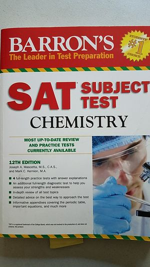 SAT chemistry subject textbook for Sale in Germantown, MD