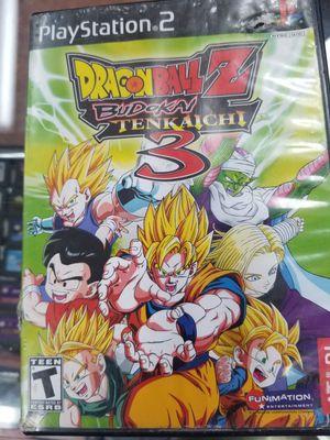 Dragonball z budokai tenkaichi 3 ps2 no manual. for Sale in Zephyrhills, FL
