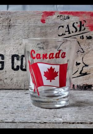 Vintage Canada Shot Glass Collectable Canadian - Wet Bar Display / Souvenir for Sale in Cincinnati, OH