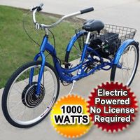Brand new 1000 watt electric trike 35mph 30 miles per charge for Sale in Chicago, IL