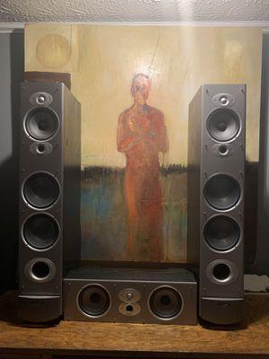 Polk audio rti10 speaker pair with center speaker for Sale in Tyrone, GA