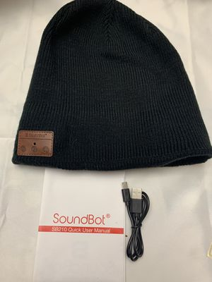SoundBot¨ SB210 HD Stereo Bluetooth 4.1 Wireless Smart Beanie Headset Musical Knit Headphone Speaker Hat Speakerphone Cap,Built-in Mic for Sale in Fontana, CA