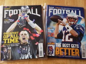 Tom Brady New England Patriots NFL football magazines for Sale in Gresham, OR