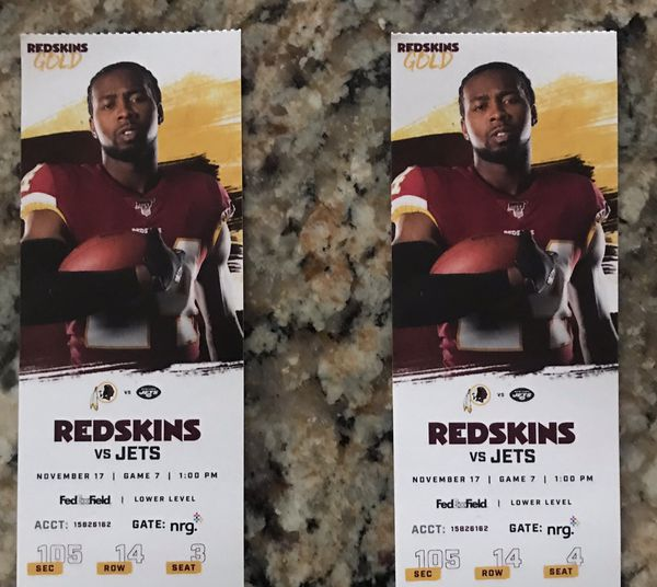 SKINS VS JETS TICKETS!!!