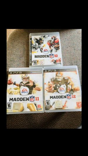 Madden 10,11,12 (PS3) for Sale in Raleigh, NC