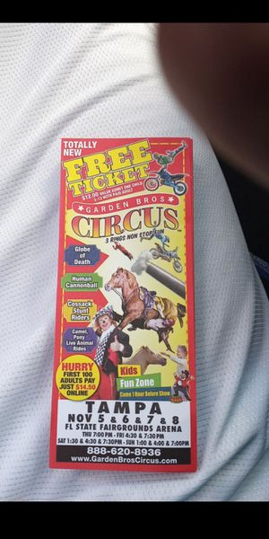 Circus tickets for Sale in Holiday, FL