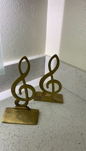 2 music note book ends for Sale in Franklin, TN