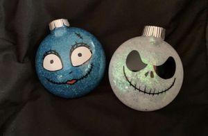 Jack Skellington & Sally Ornament Set. The Nightmare Before Christmas for Sale in East Brunswick, NJ