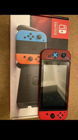 Nintendo Switch with Neon red and blue joy-cons for Sale in Bakersfield, CA